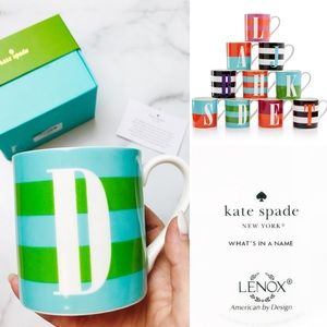 """Kate Spade Lenox """"What's in a Name"""" Letter 'D' Mug"""